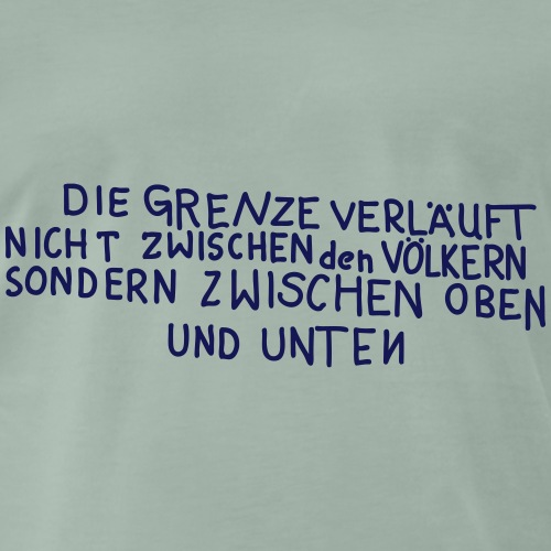 Graffiti: Oben und Unten - Männer Premium T-Shirt