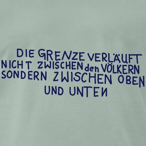 Graffiti: Oben und Unten - Maglietta Premium da uomo