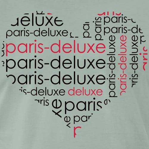 Paris Deluxe Herz Motiv - Männer Premium T-Shirt