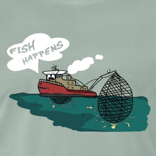süßes Fischerboot - Fische sind Freunde - Männer Premium T-Shirt