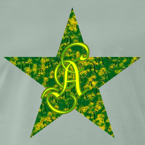 Letter a in a green star