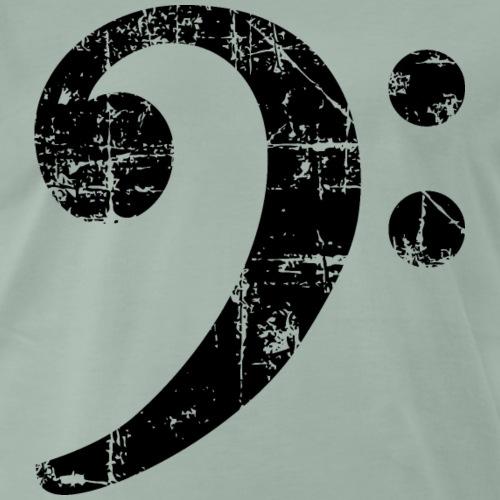 Bassschlüssel Vintage Bassisten Design - Männer Premium T-Shirt