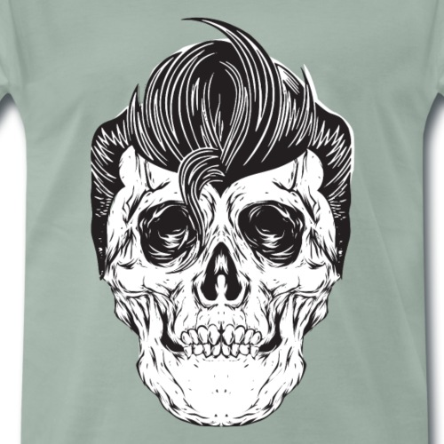 Rockabilly Totenkopf - Männer Premium T-Shirt