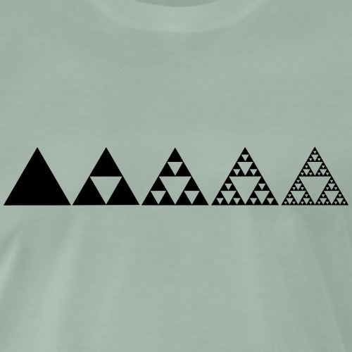 Sierpinski Dreieck - Fraktal - Einheit in Vielfalt - Männer Premium T-Shirt