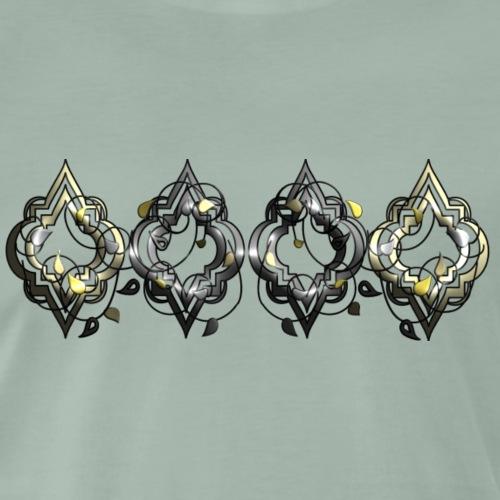 Orientalische Ornamente in 3D und metallic - Männer Premium T-Shirt