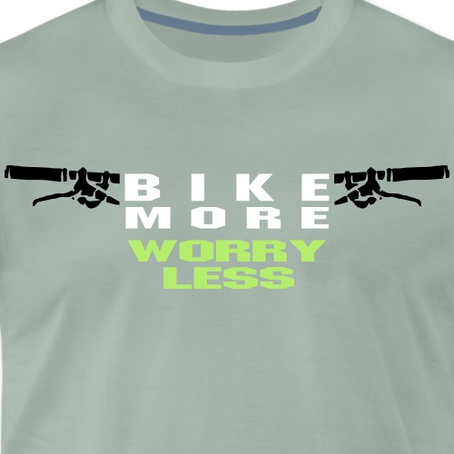 bike more worry less 3farbig - Männer Premium T-Shirt