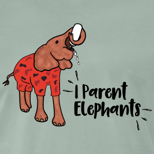 I Parent Elephant - Men's Premium T-Shirt