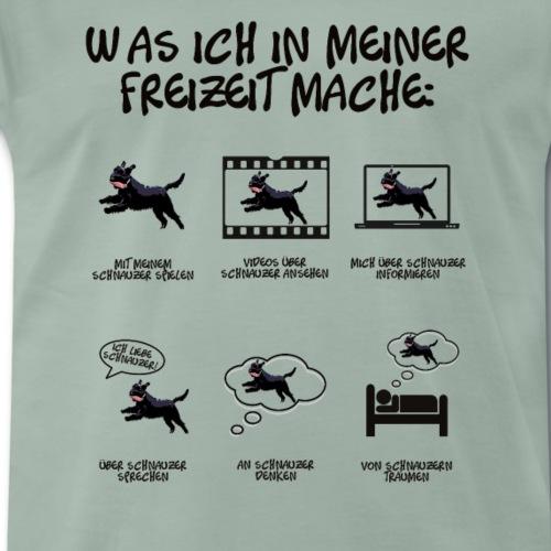 Dinge in meiner Freizeit Hund Schnauzer Geschenk - Männer Premium T-Shirt