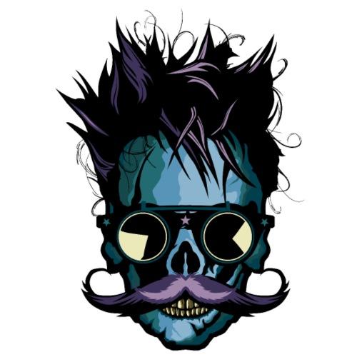 tete de mort hipster moustachu skull crane moustac - T-shirt Premium Homme