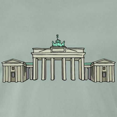 Porta di Brandeburgo a BERLINO c - Maglietta Premium da uomo