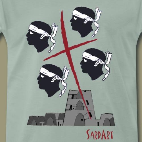 4 Mori - Die sardische Flagge mit Nuraghen