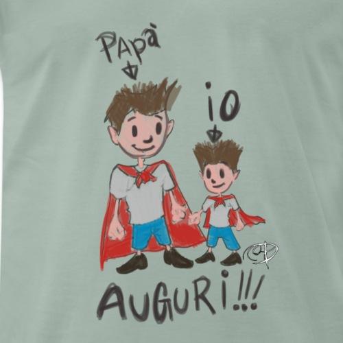 IO E PAPA' murales - Maglietta Premium da uomo