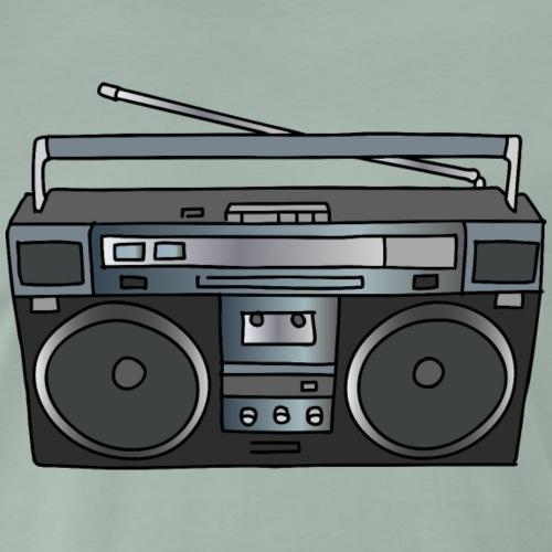 stereo portatile ghettoblaster - Maglietta Premium da uomo