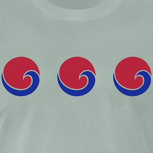 Sonne Strand Welle, sun, sunset, surf, ocean, sea - Männer Premium T-Shirt
