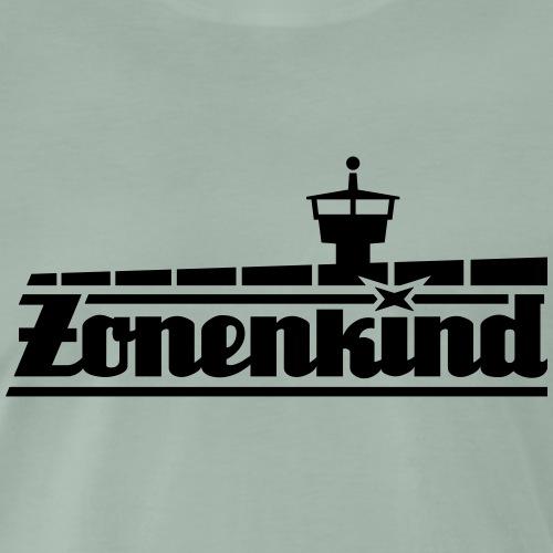 Zonenkind mit Grenzmauer und Turm - Männer Premium T-Shirt