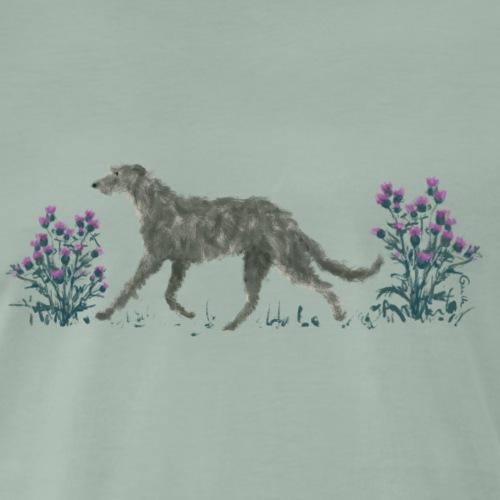 Deerhound und Disteln - Männer Premium T-Shirt