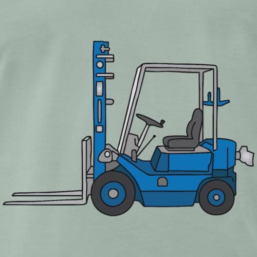 Blauer Gabelstapeler - Männer Premium T-Shirt