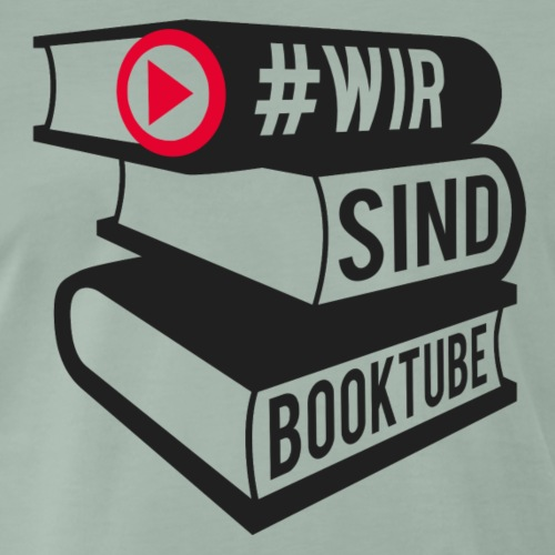 #wirsindbooktube Logo - Männer Premium T-Shirt