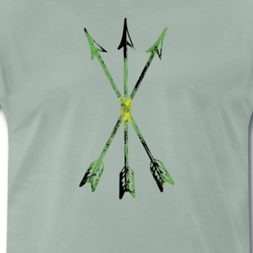 Scoia tael emblem green yellow black - Men's Premium T-Shirt