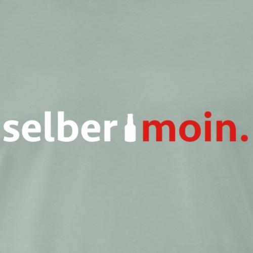 Selber moin. Mit Bierflasche in weiß / rot - Männer Premium T-Shirt