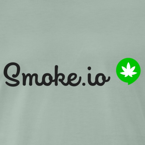 SMOKE IO mit Hintegrund. - Men's Premium T-Shirt