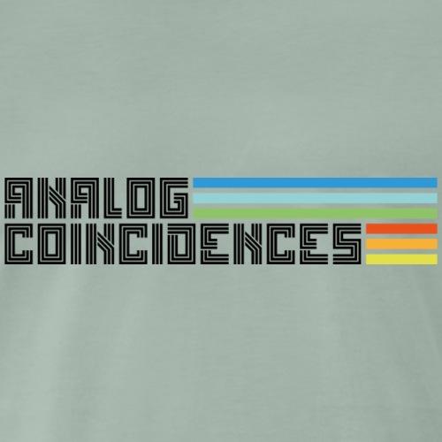 Analog Coincidences logo zwart - Mannen Premium T-shirt