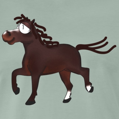 Kleines gut gelauntes Pony in Farbe