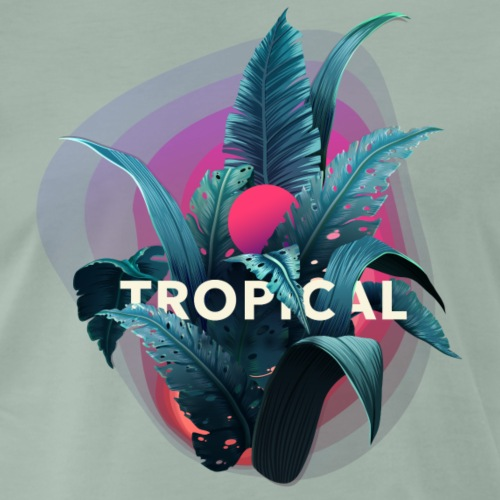 Tropical flowers - T-shirt Premium Homme