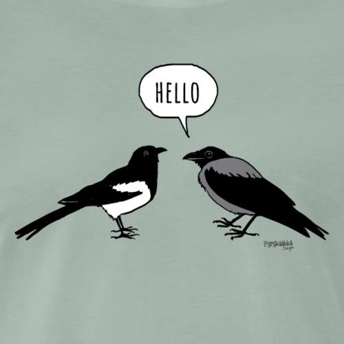 Hello - Miesten premium t-paita