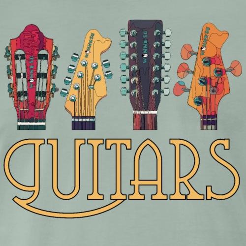 guitars1 2 - Männer Premium T-Shirt