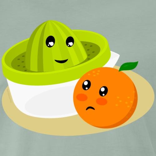 Naranja y exprimidor II. Zumo de naranja - Camiseta premium hombre