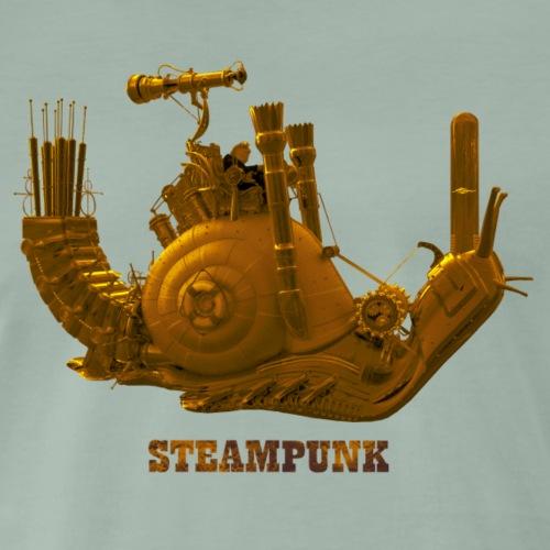 Steampunk Schnecke snail Retro Futurismus - Männer Premium T-Shirt