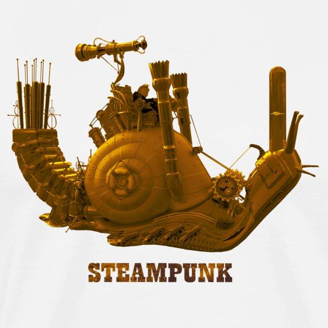 Steampunk Schnecke snail Retro Futurismus
