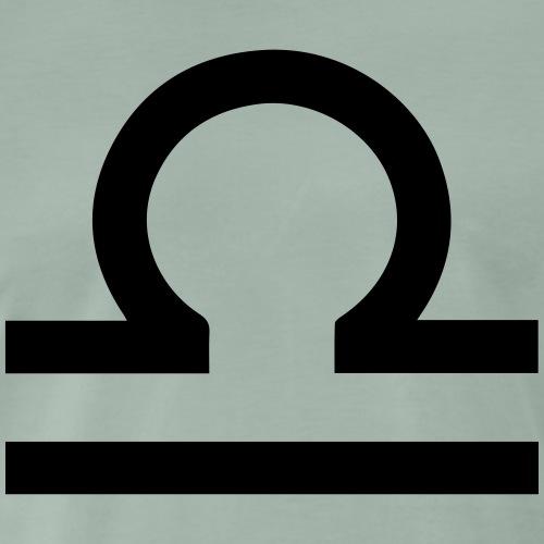 Waage, Oktober, Sternzeichen, Astrologie, Symbol - Männer Premium T-Shirt