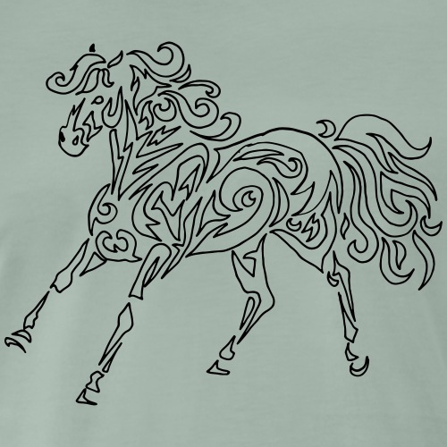 Spirit Tribal Horse - L'esprit du cheval tatouage - T-shirt Premium Homme