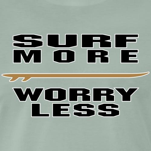 surf more worry less 2 colours - Männer Premium T-Shirt