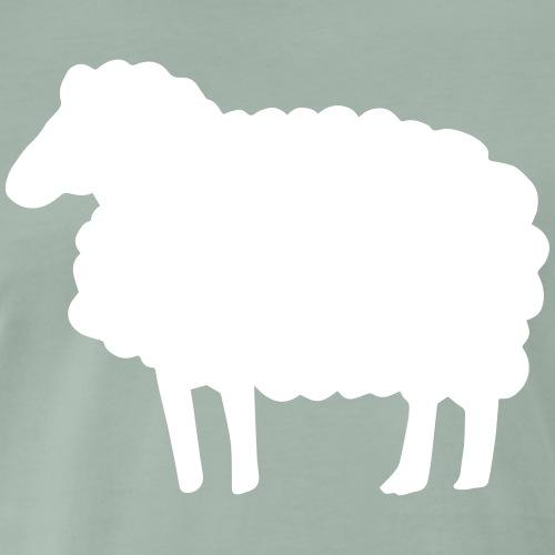 Farbe anpassbar Lustiges Schaf Silhouette Geschenk - Männer Premium T-Shirt