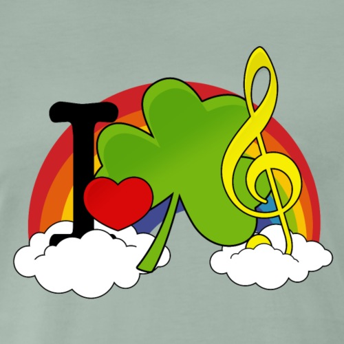 I love Irish Music - Männer Premium T-Shirt