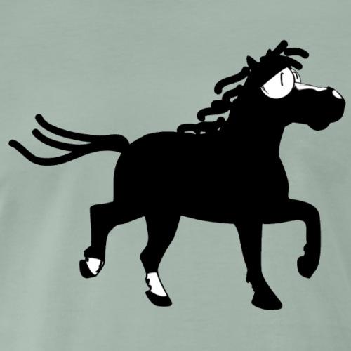 Kleines gut gelauntes Pony in schwarz