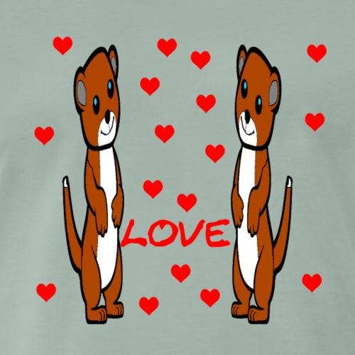Erdmaennchen love 2 - Männer Premium T-Shirt