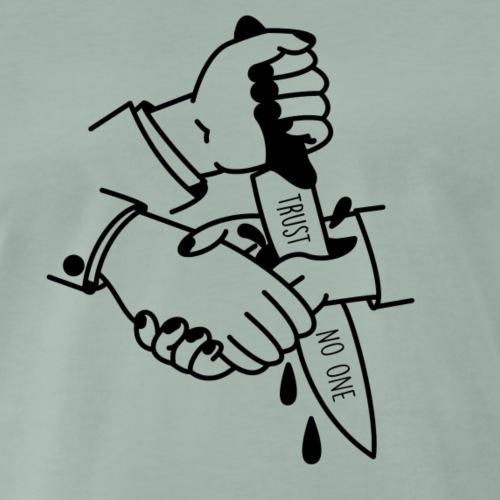 Trust no one black - Männer Premium T-Shirt