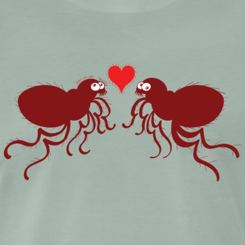 Ugly fleas madly falling in love - Men's Premium T-Shirt
