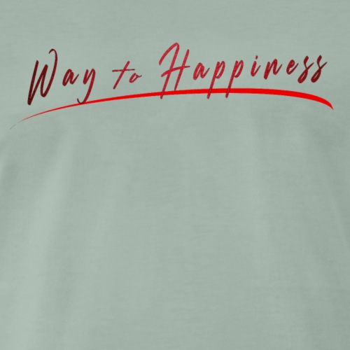 WAY TO HAPPINESS t-shirt officiel du blog - T-shirt Premium Homme