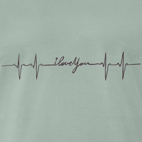 Ik hou van jou hartslag - T-shirt Premium Homme