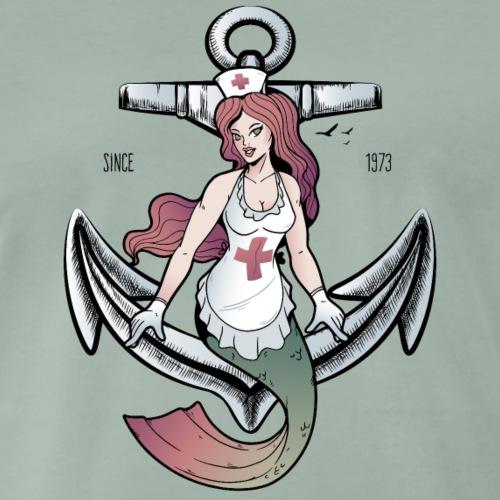 Seejungfrau Krankenschwester seit 1973 - Männer Premium T-Shirt