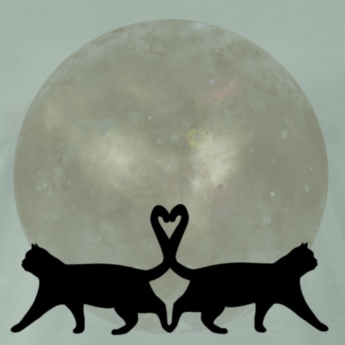 Cats in the moonlight - Mannen Premium T-shirt