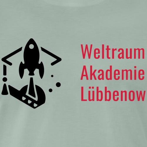 W.A.L. mit Schrift - Männer Premium T-Shirt