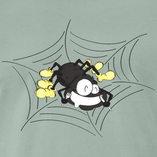 Hungrige Spinne im Netz