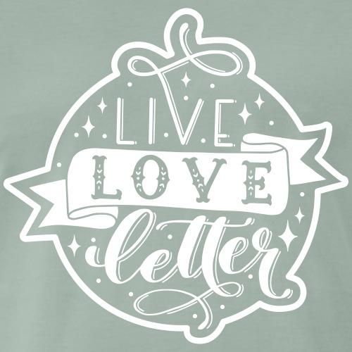 live love letter - Männer Premium T-Shirt