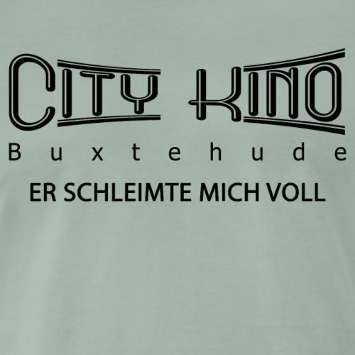 Er schleimte mich voll mit City Kino Logo - Männer Premium T-Shirt